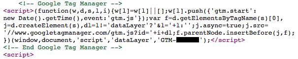 Internal JavaScript example