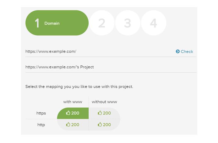 DeepCrawl Project Settings Step 1