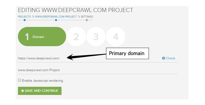 Primary Domain Settings