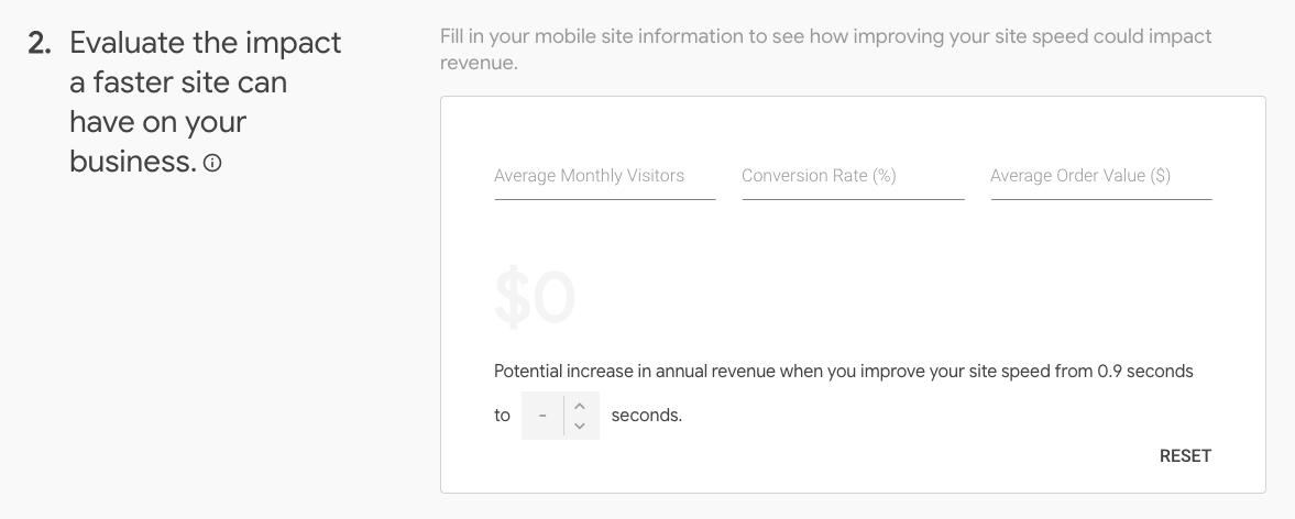 Google's Test My Site tool