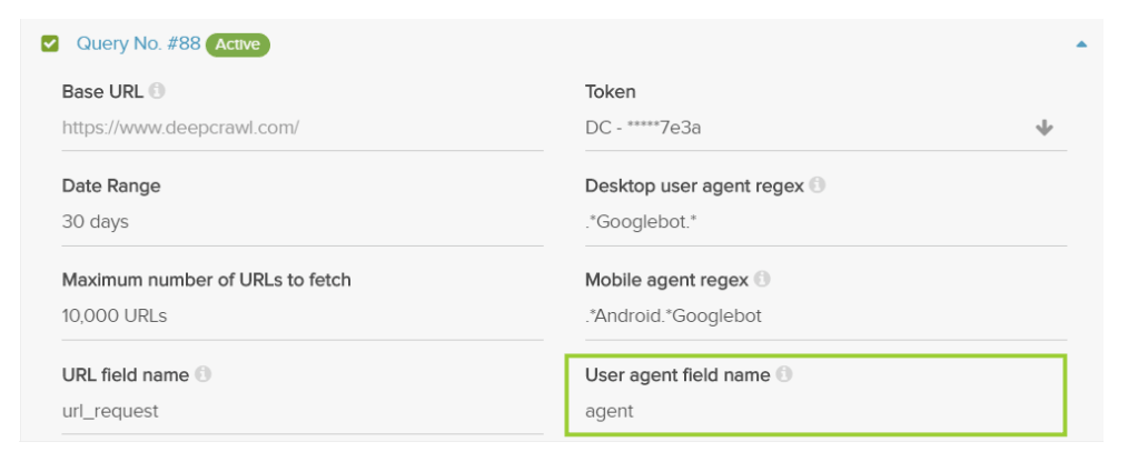 Query Build Agent Name Field