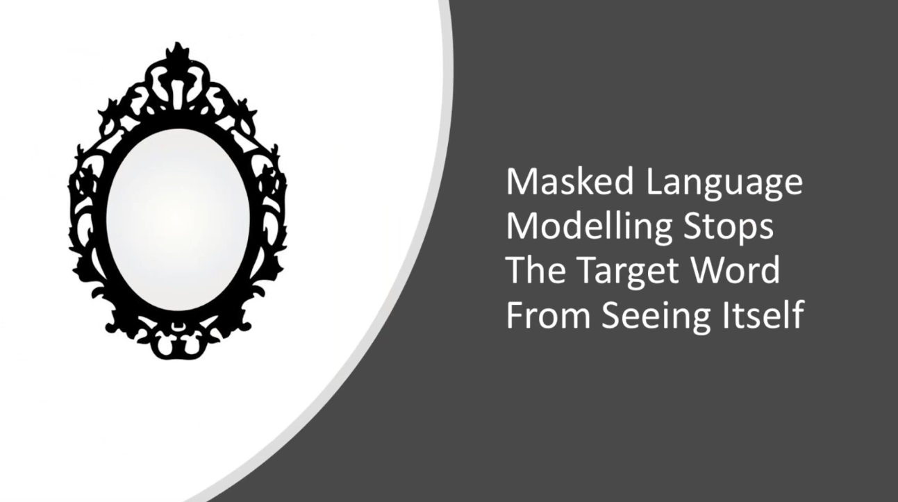 "Masked language modelling"" /></p> <p>Along with this, attention transformers are used to focus weight on a particular given word, in order to identify which of the words in the sentence matter most. </p> <p><img src="