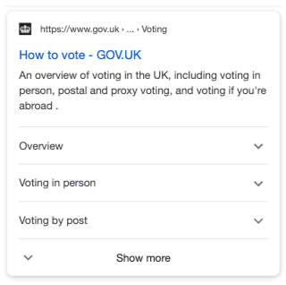 Gov.uk FAQ Markup