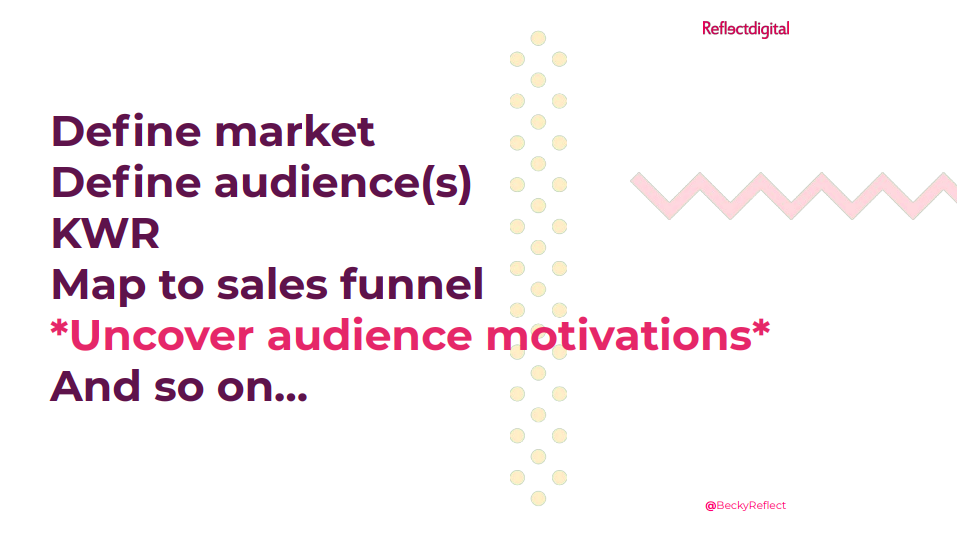 Uncover audience motivations