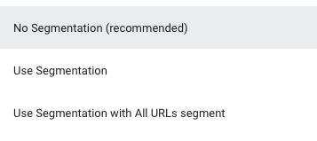 Segmentation Options