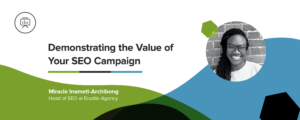 how to demonstrate the value of seo