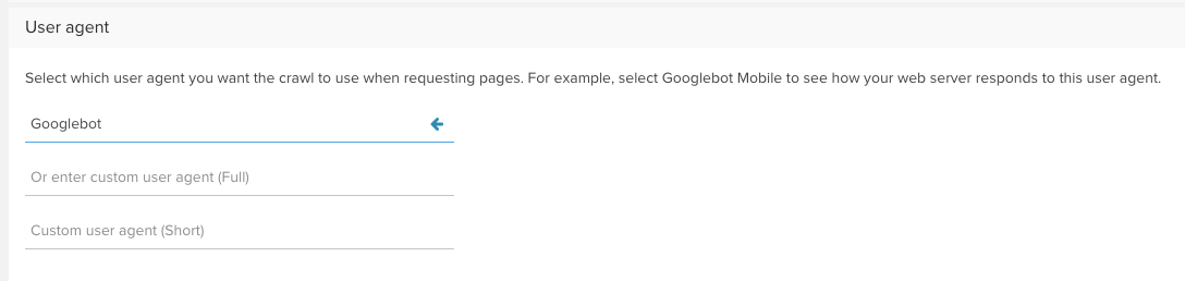 User Agent Google Bot