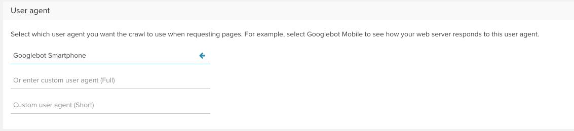 User Agent Google Bot Smartphone