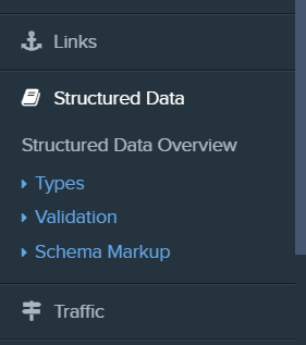 new structured data category