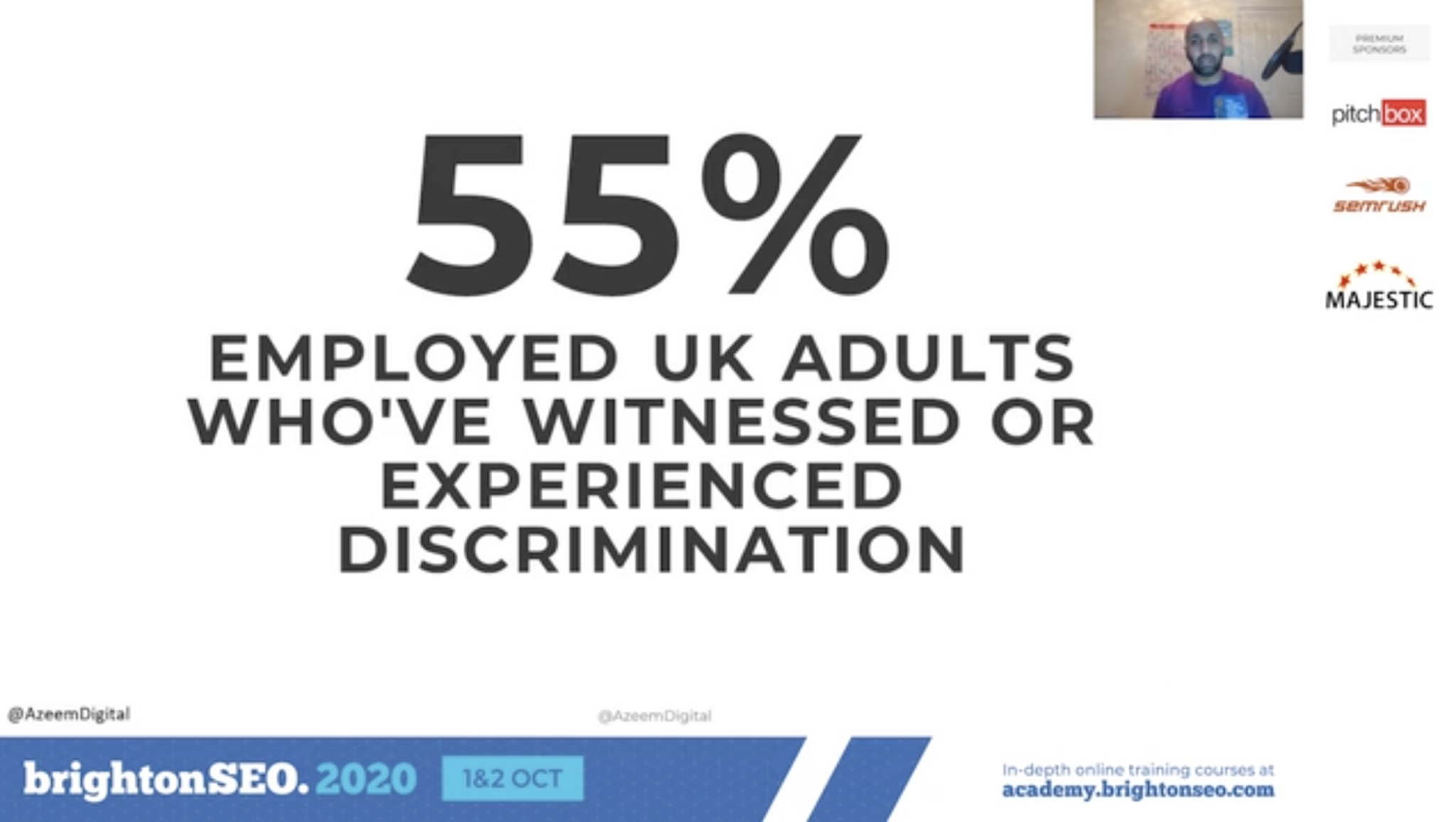 over half of people have experienced discrimination in the workplace