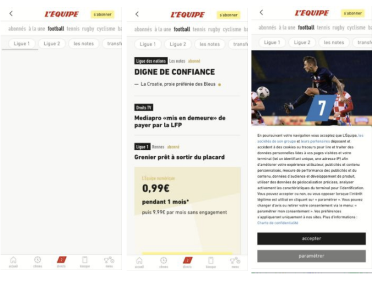 lequipe website