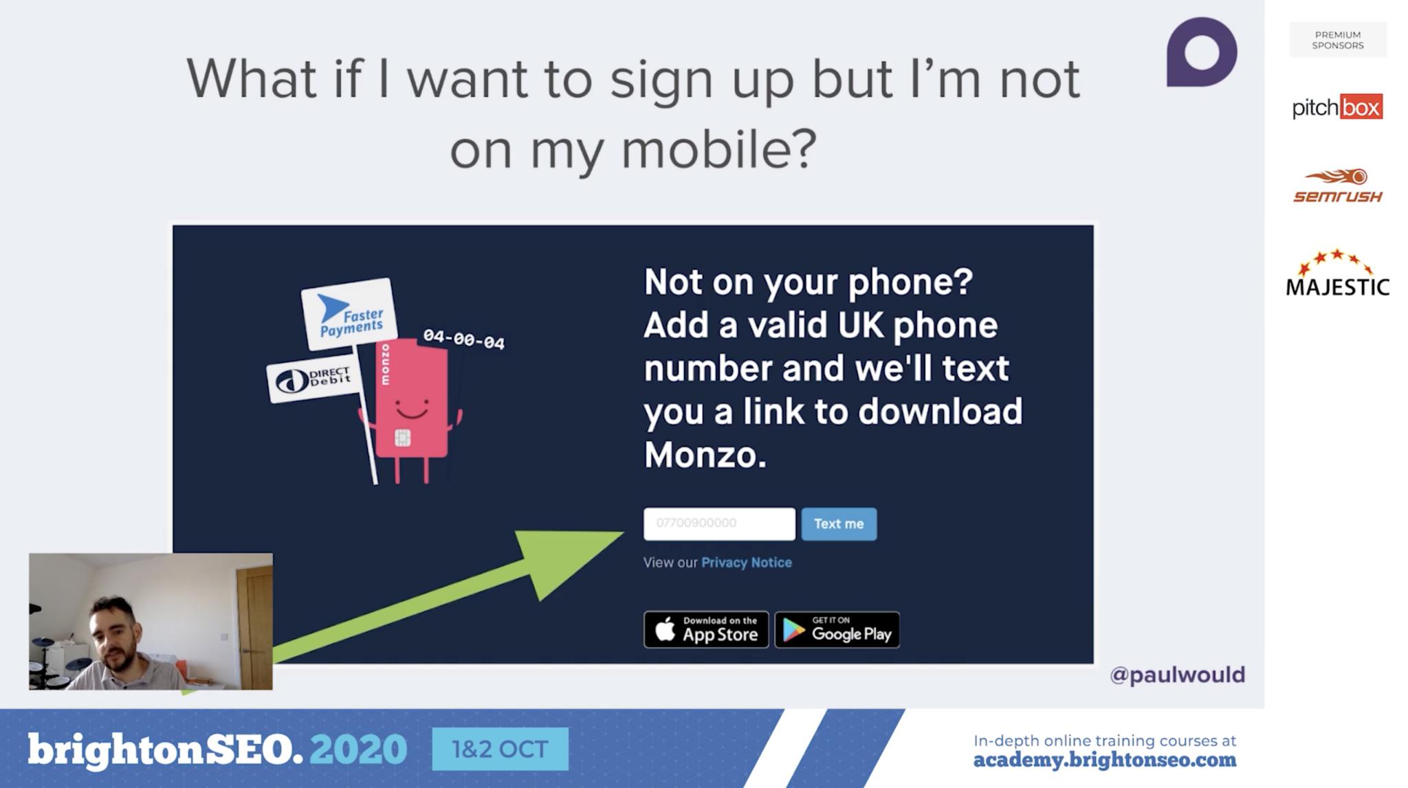 Monzo web homepage