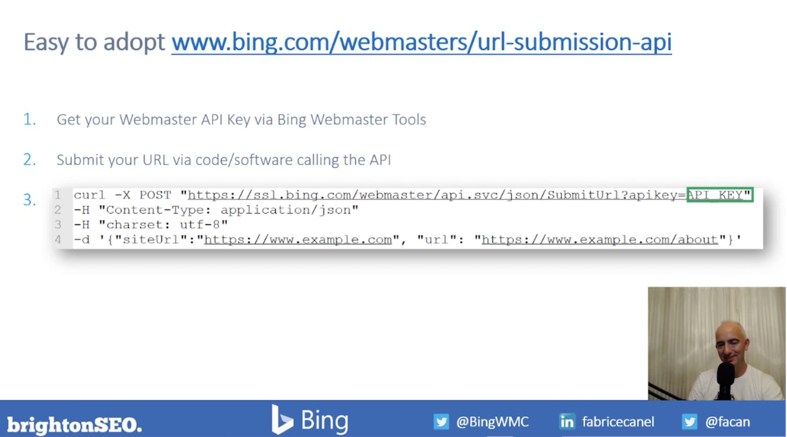 URL inspection API