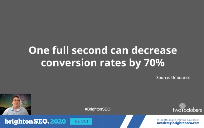 one second can decrease conversions by 70 percent