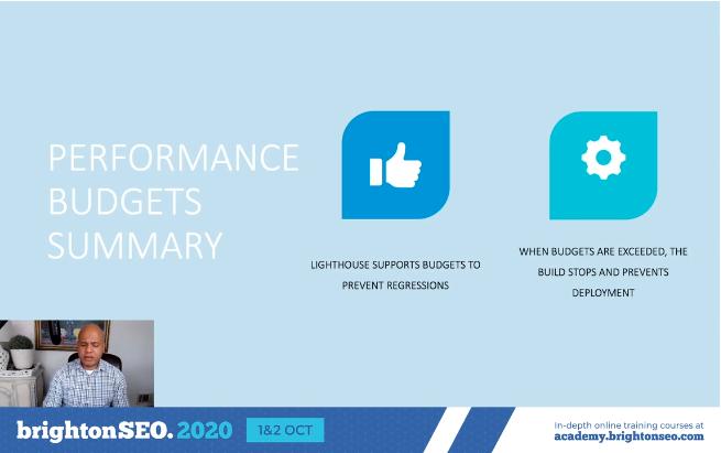 performance budgets summary