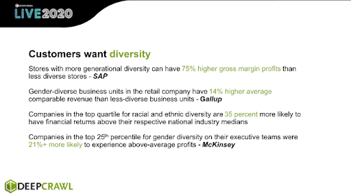 customers want diversity
