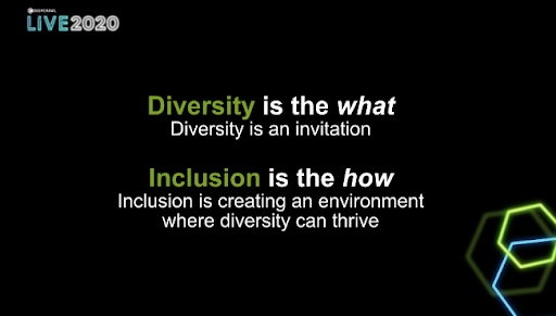 diversity is the what, inclusion is the how