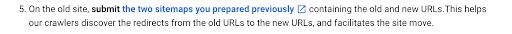 Google guidance on URL changes