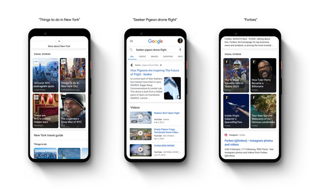 Google Web Stories screenshot