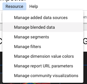 edit blended data resource