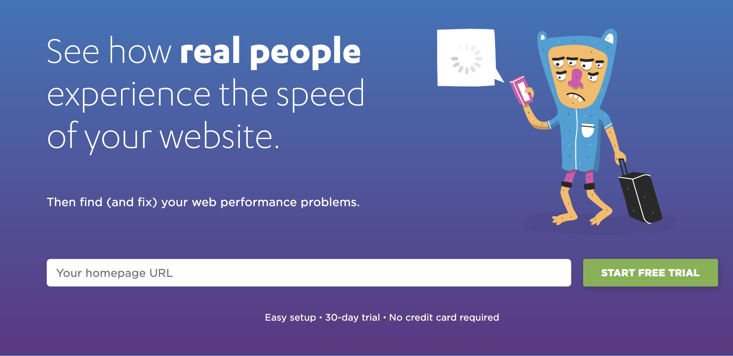 Speedcurve homepage