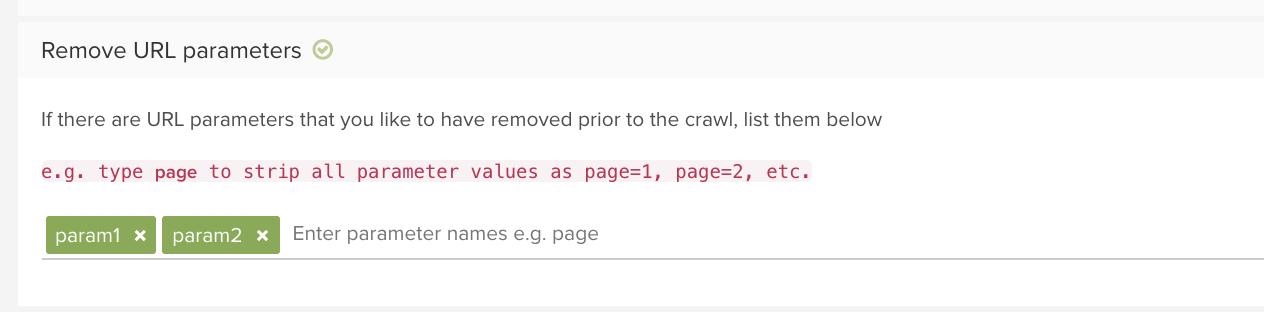 How to remove URL parameters in Deepcrawl advanced settings